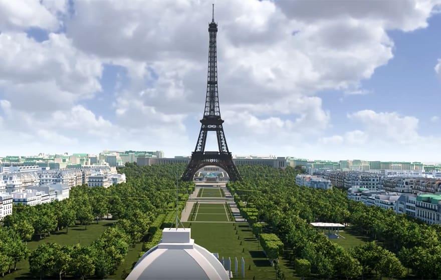 Eiffel Tower site revamp - 3D model helps evaluate design
