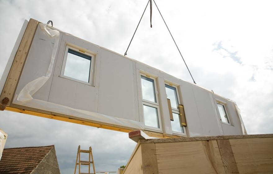 Image: Modular home construction (Colmore Tang)
