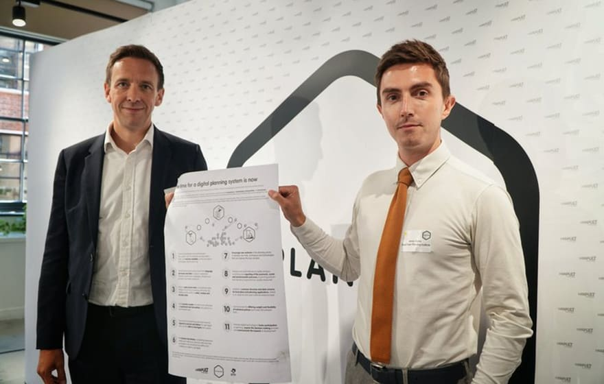 Image: RTPI Policy Manager James Harris (right) with Stefan Webb of CPC
