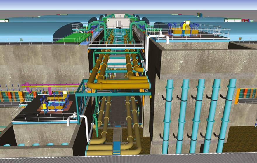 Sandon Dock, Liverpool - Wastewater Treatment Works   BIM+