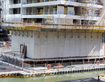 Construction of East Abutment above water