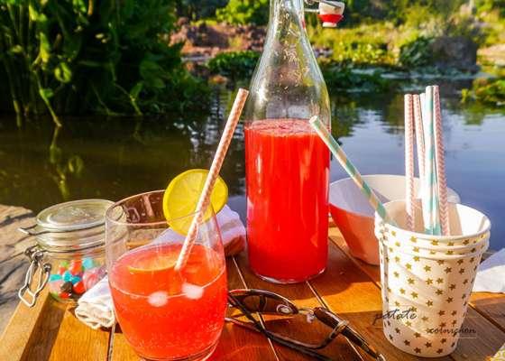 Citronnade aux cranberries