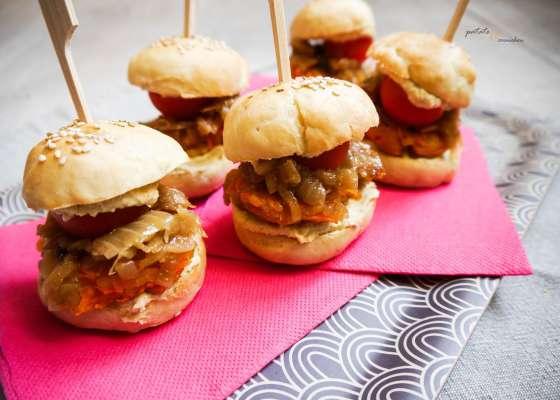 Mini burgers aux lentilles corail