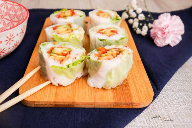 Makis de printemps vegan