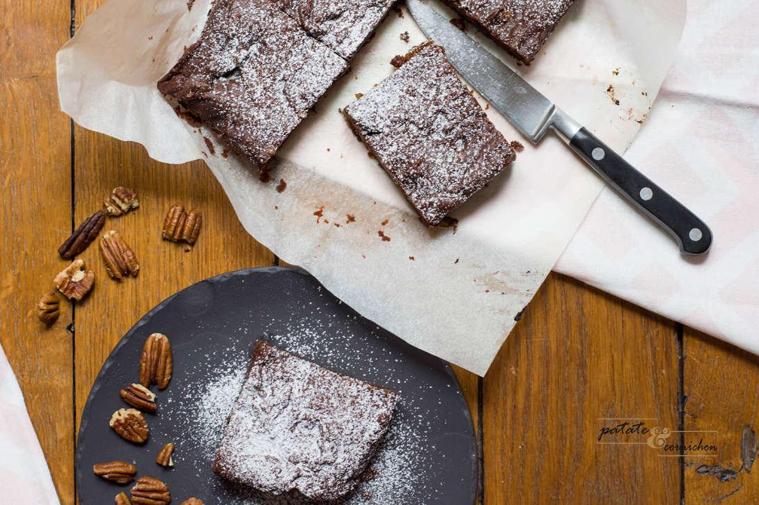Brownie vegan aux noix de pécan
