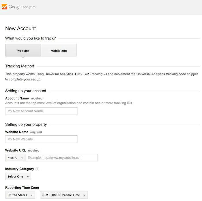 criar conta no Google Analytics