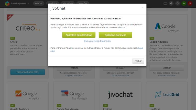 Integração JivoChat