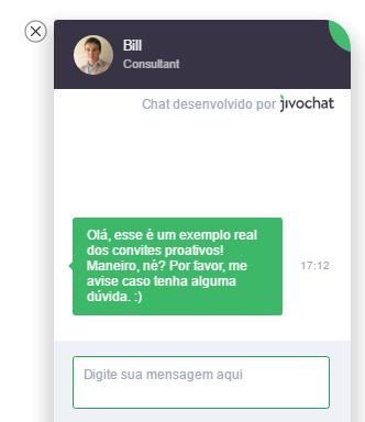 convite proativo no chat para melhorar atendimento