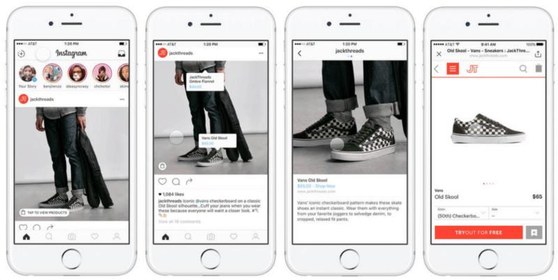 Links nos posts do Instagram