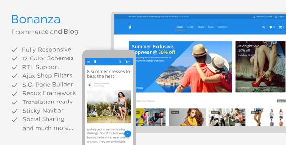 Logo da Bonanza e exemplo de site de vendas no tablet e celular
