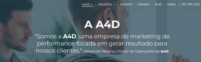 Banner da A4D mkt digital