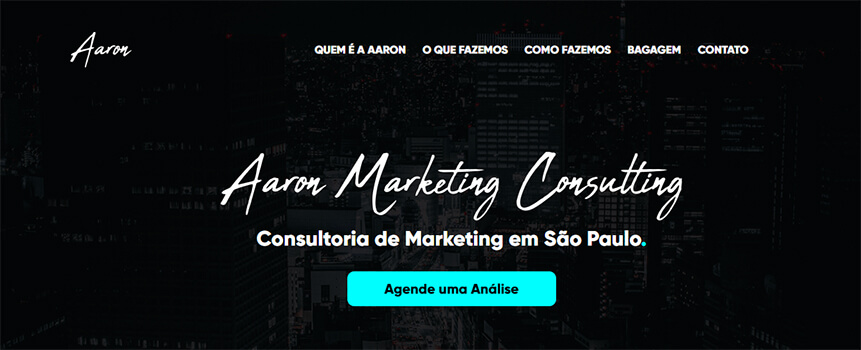 Banner da Aaron Marketing