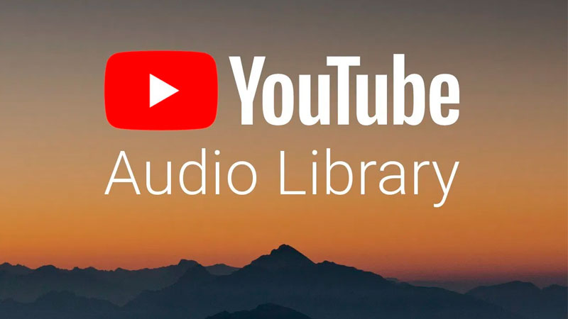 Captura de tela do acervo para baixar música YouTube Library
