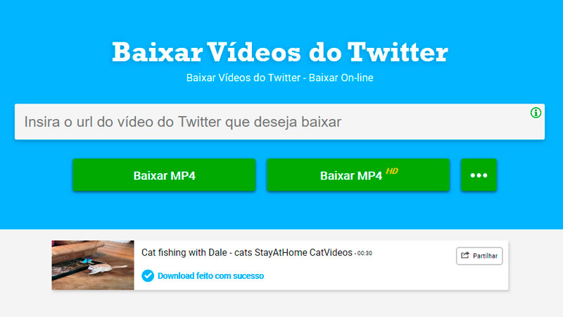 Interface do Download Twitter Video