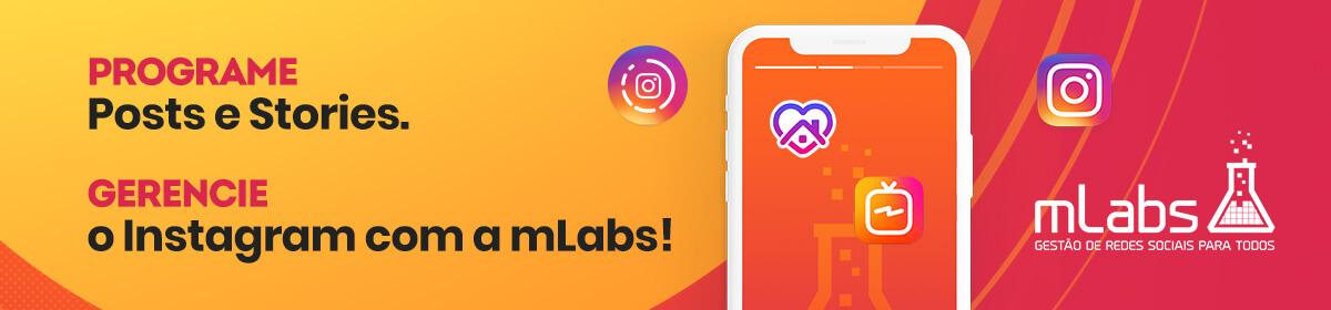 Banner da mLabs para gestão de Instagram