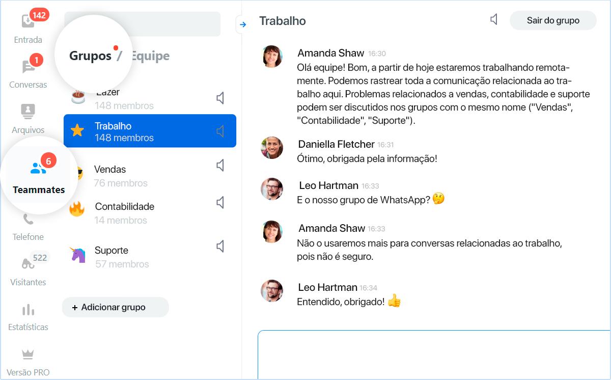 JivoTeams - Chat para equipes do JivoChat