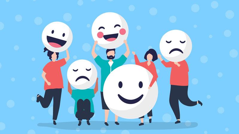 Pessoas expressando sua satisfação quanto ao clima organizacional