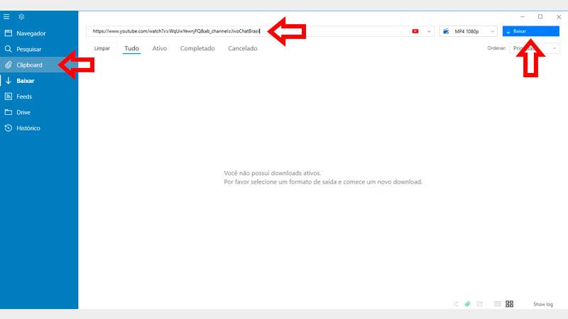 VDownloader, guia de download, passo 1