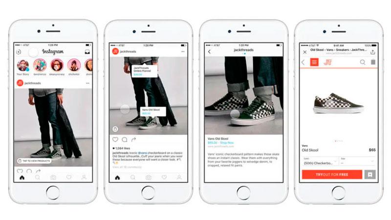 acessando produto marcado em uma publicação no feed do instagram
