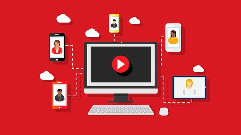 canal do youtube alcançando celulares de diferentes pessoas