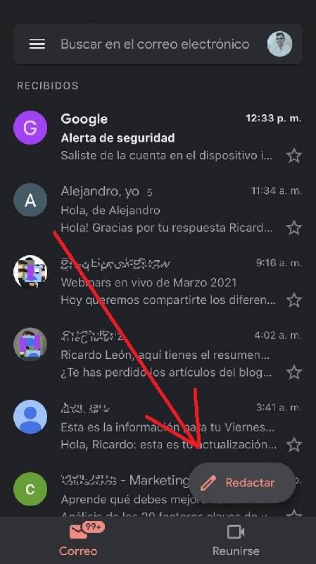 Cómo enviar un correo Gmail