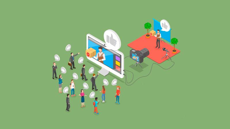 influencer gravando conteúdo para seu público