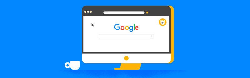 computador com a tela do google aberta
