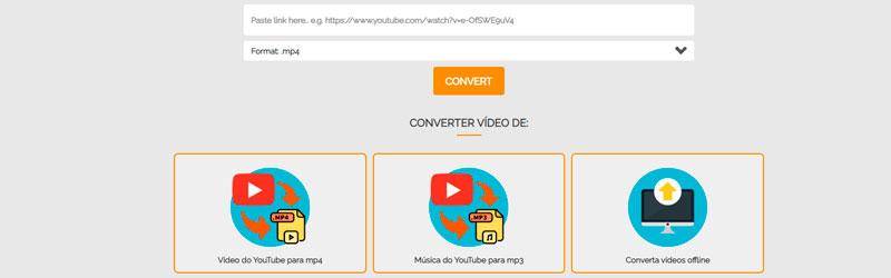 Caputa de tela do Online Video Converter