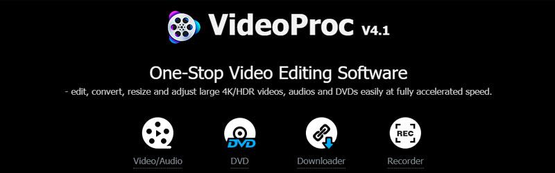 Banner do conversor e editor VideoProc