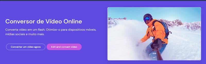 Banner do conversor de vídeo online ClipChamp