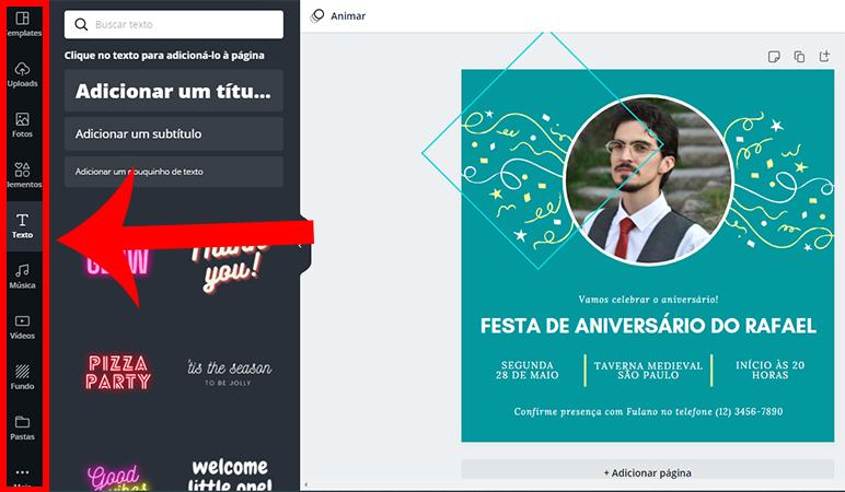 Como criar convite virtual do zero