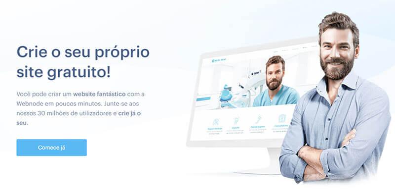 Webnode - Criar site grátis