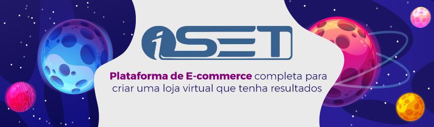 Banner da plataforma de ecommerce da iSET