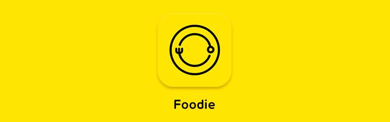 logo do aplicativo editor de fotos foodie