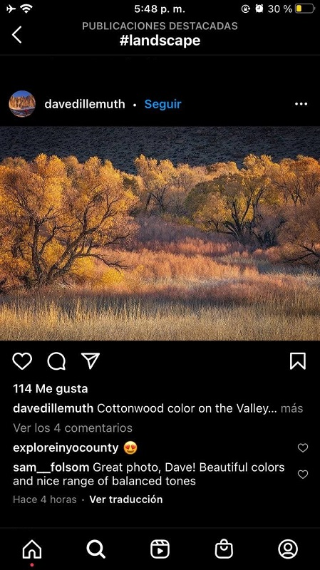 Fotos Landscape en Instagram