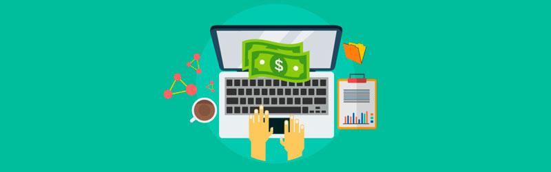 Negócio online sendo gerenciado em casa