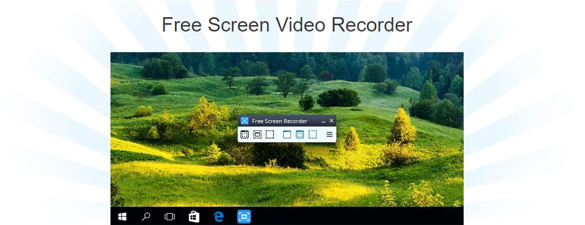 Interface do Free Screen Recorder para PC