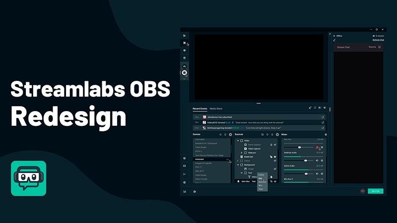 interface e logo do Streamlabs OBS