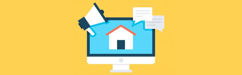 computador com o ícone de uma casa em sua tela