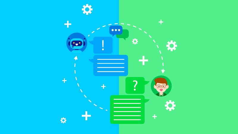 Consumidor interagindo através do marketing conversacional