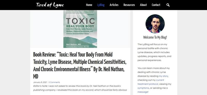 Tired of Lyme blog