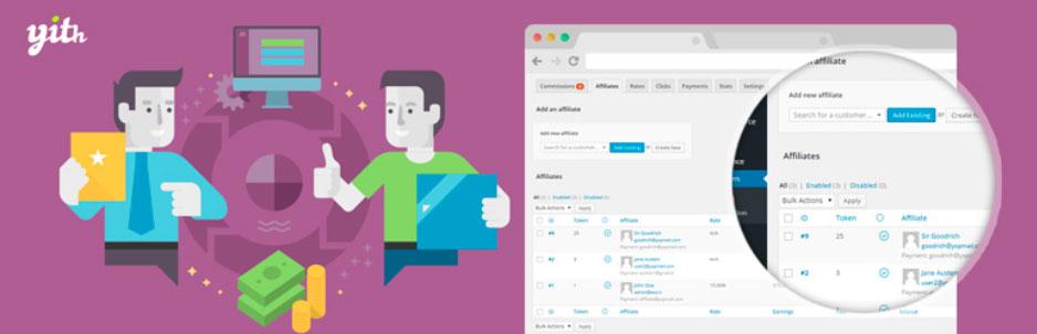 Melhores Plugins de WordPress para Afiliação YITH WooCommerce Affiliates