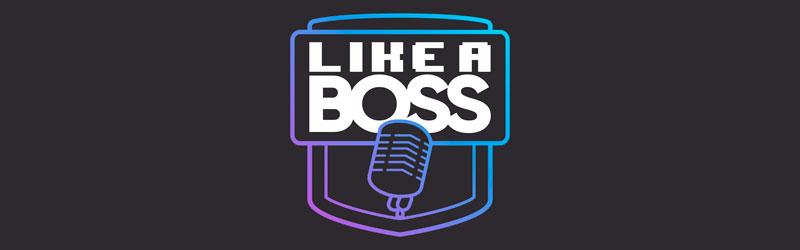 logo do podcast para empreendedores Like a Boss