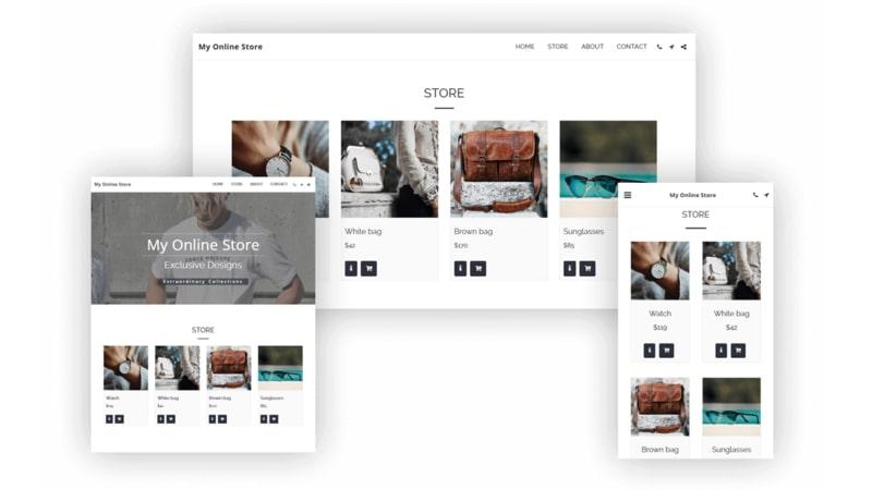 Crear tienda online en SITE123