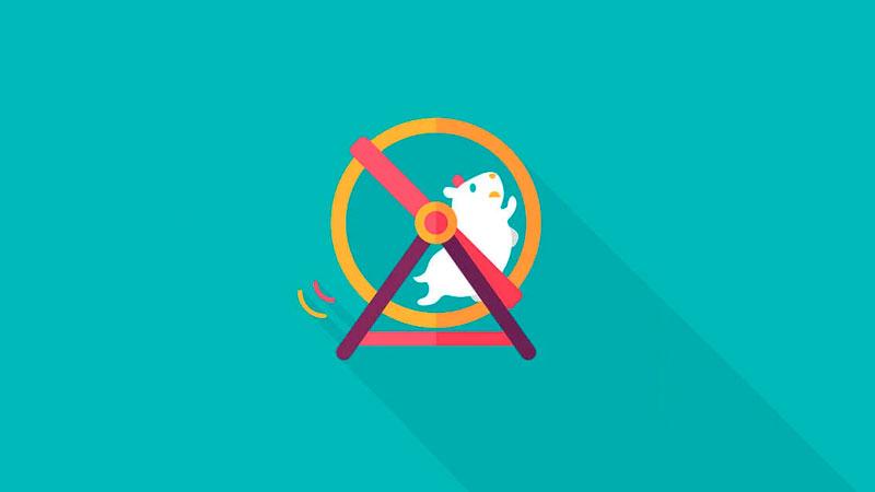 Hamster correndo em uma roda