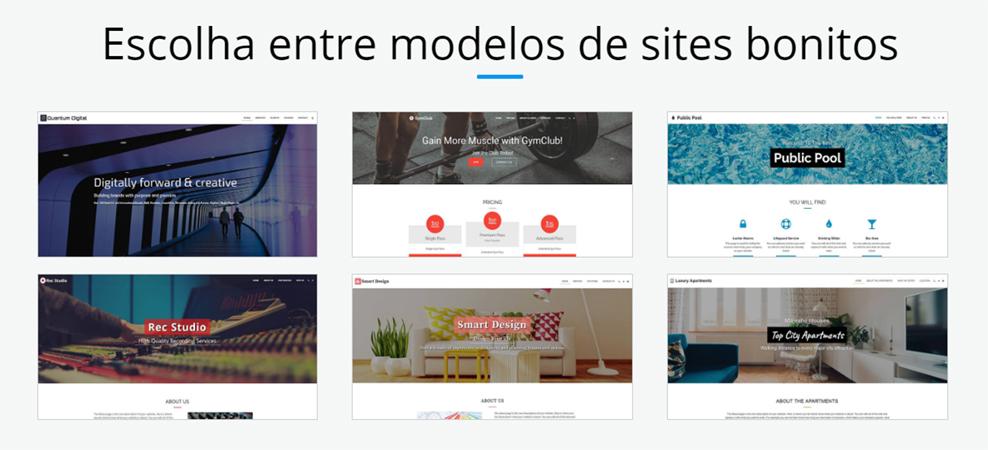 Modelos e layouts prontos e personalizáveis