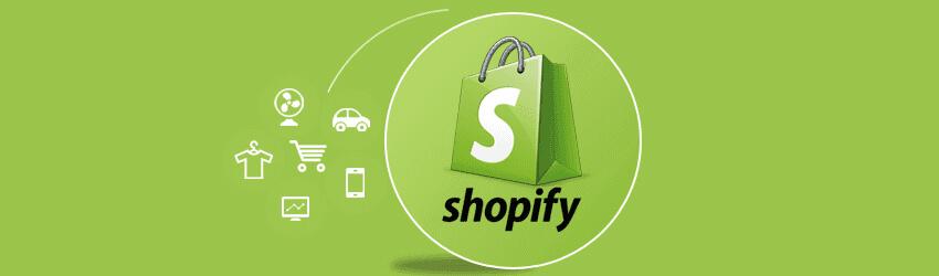 Logo da Shopify - plataforma para criar loja online
