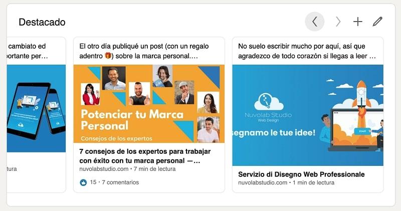 Compartir contenido de LinkedIn