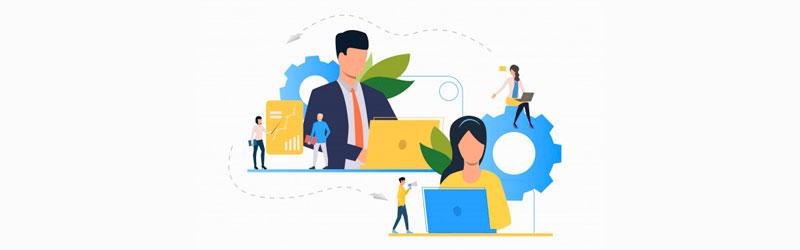 Assistente oferecendo suporte em seu trabalho online