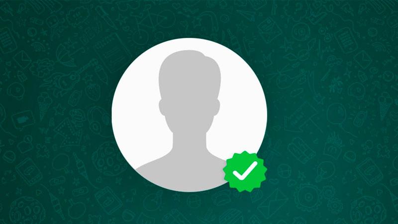Perfil do WhatsApp Corporativo com selo de verificação